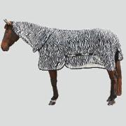 Couverture anti-mouche avec encolure RugBe Zebra